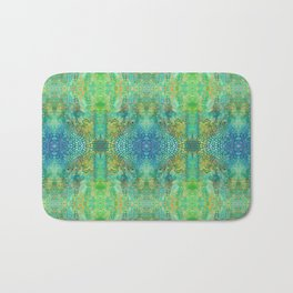 Green Watercolor Leopard Print Pattern - Animal Print Design Bath Mat