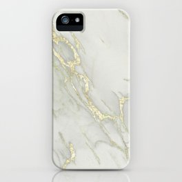 Marble Love Gold Metallic iPhone Case