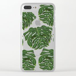 Monstera Pug Clear iPhone Case