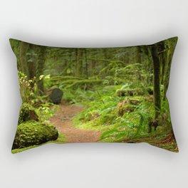 The Deep Woodland  Path... Rectangular Pillow