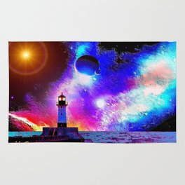 Lighthouse to the stars Rug