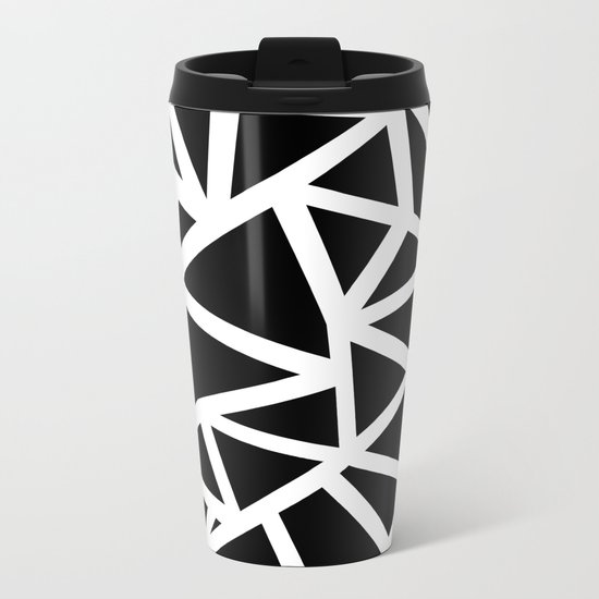 Ab Outline Thicker Black Metal Travel Mug