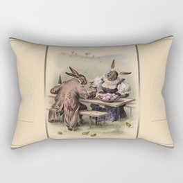 Easter bunnies - Vintage Illustration Rectangular Pillow