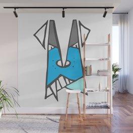 Blue dog Wall Mural