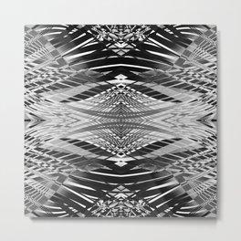 PRETTY BLACK & WHITE LINE PATTERN II Metal Print
