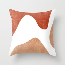 Terracotta Art Print 7 - Terracotta Abstract - Modern, Minimal, Contemporary Print - Burnt Orange Throw Pillow