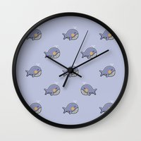 whales Wall Clocks featuring whales by Jarvis Glasses