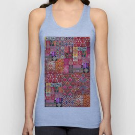 -A35- Traditional Colored Moroccan Artwork. Unisex Tank Top