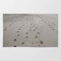 nicki Area & Throw Rugs featuring leaving traces by Nicki Klepper