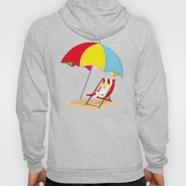 Space Odyssey | Astronaut Lounging at the Beach | Sea Side | Space | Umbrella | pulps of wood Hoody