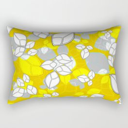 Leafs in Yellow Rectangular Pillow