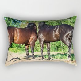 horse collection:couple Rectangular Pillow