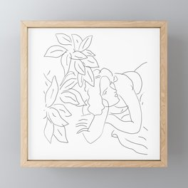 Matisse Line Art #5 Framed Mini Art Print