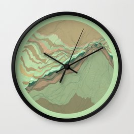 TOPOGRAPHY 001 Wall Clock