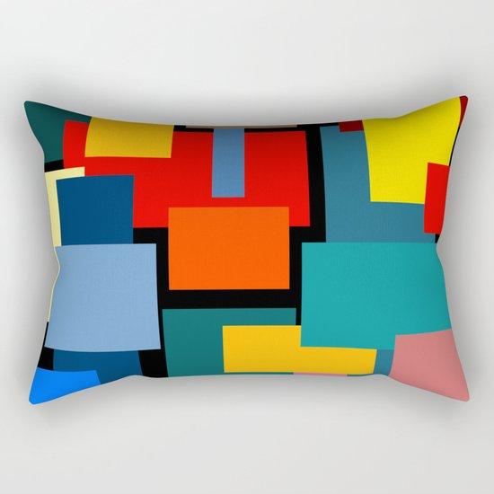 Color Blocks #8-2 Rectangular Pillow