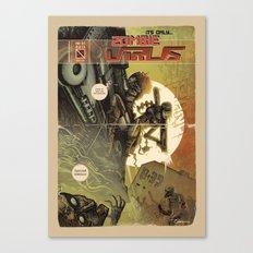 Zombie Virus Canvas Print