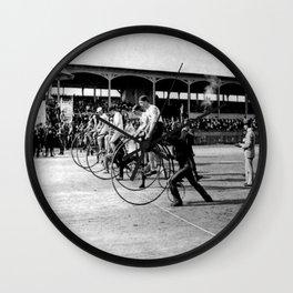 Bicycle race Wall Clock