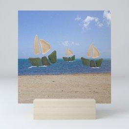 I Saw Three Ships On Christmas Day #Christmas Mini Art Print