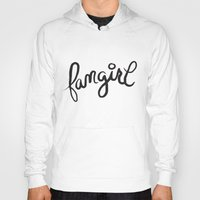 fangirl Hoodies featuring fangirl by Fortissimo6