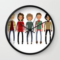 cargline Wall Clocks featuring Christmas Sweaters by cargline