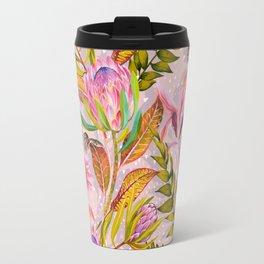 Botanical love pattern Travel Mug