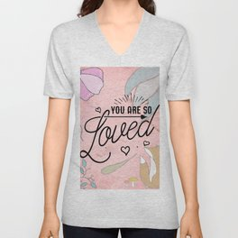 You Are so Loved - Cute Valentine's Illustration Unisex V-Neck