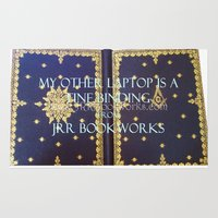 laptop Area & Throw Rugs featuring Laptop by Jrr Bookworks