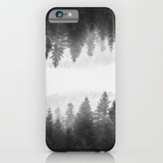 Black and white foggy mirrored forest iPhone 6s Slim Case