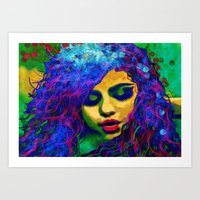 selena Art Prints featuring Selena (pop) by    Amy Anderson