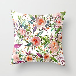 INCOGNITO INTROVERT Tropical Colorful Floral Throw Pillow