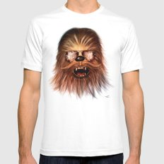 STAR WARS CHEWBACCA LARGE Mens Fitted Tee White
