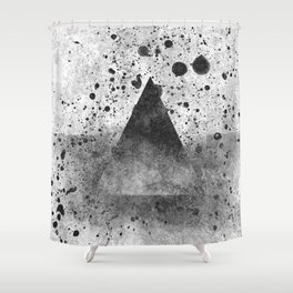 Triangle Composition III Shower Curtain