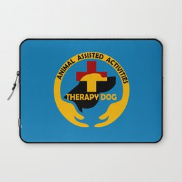 Animal Assisted Activities  - THERAPY DOG logo Laptop Sleeve