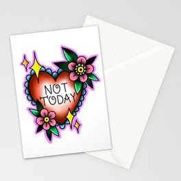 Not Today Heart with Flowers Stationery Cards