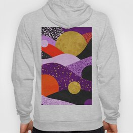 Terrazzo galaxy purple orange gold Hoody