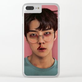 Busted Sehun Clear iPhone Case