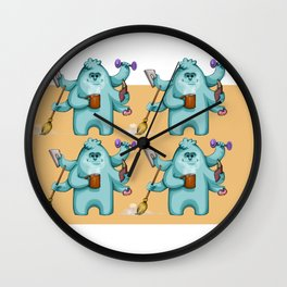Multitasking Monster Wall Clock