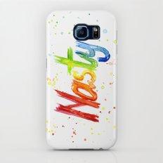 Nasty Woman Rainbow Watercolor Text Galaxy S7 Slim Case