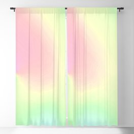 Pastel pink teal aqua watercolor ombre pattern Blackout Curtain