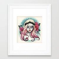 dia de los muertos Framed Art Prints featuring ¡Dia de los Muertos! by Tati Ferrigno