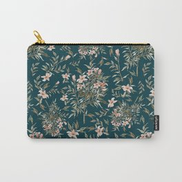 Small Floral Branch Carry-All Pouch