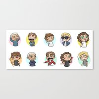 emoji Canvas Prints featuring Emoji 1D by Cyrilliart