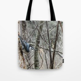 Nutty Nuthatcher Tote Bag