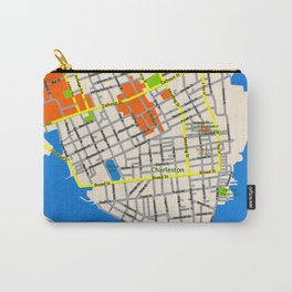 Map of Charleston, SC Carry-All Pouch