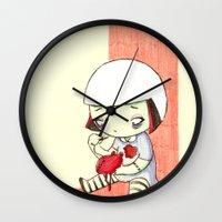 sewing Wall Clocks featuring Sewing Heart by Sabrina Eras
