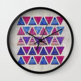 Triangular composition #2 Wall Clock