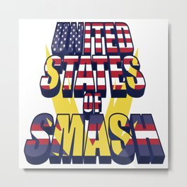 United States of Smash Metal Print