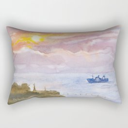 Sunset on the Black Sea Rectangular Pillow