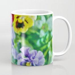 Painted Pansies Coffee Mug