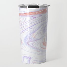 Purple and Pink Marble Texture White Marble Travel Mug
